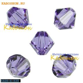 Swarovski Xilion beads 6 мм Tanzanite