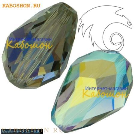 Бусина Swarovski (Сваровски) Teardrop Bead 9 мм Black Diamond AB