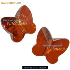 Swarovski Butterfly Bead 12 мм Crystal Red Magma
