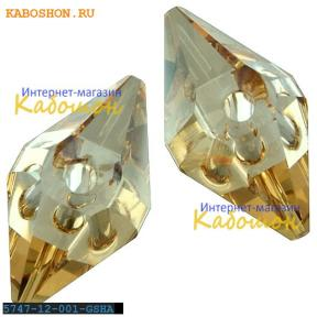Swarovski Double Spike Bead 12 мм Crystal Golden Shadow