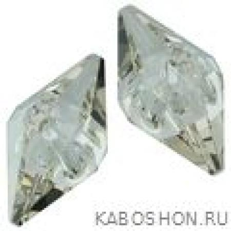 Бусина Swarovski (Сваровски) Double Spike Bead 12 мм Crystal Silver Shade
