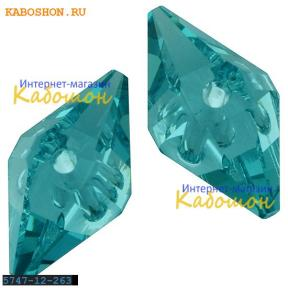 Swarovski Double Spike Bead 12 мм Crystal Lt.Turquoise