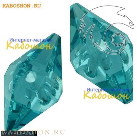 Бусина Swarovski (Сваровски) Double Spike Bead 12 мм Crystal Lt.Turquoise