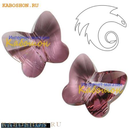 Бусина Swarovski (Сваровски) Butterfly Bead 10 мм Crystal Antique Pink