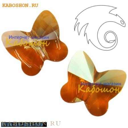 Бусина Swarovski (Сваровски) Butterfly Bead 10 мм Crystal Copper