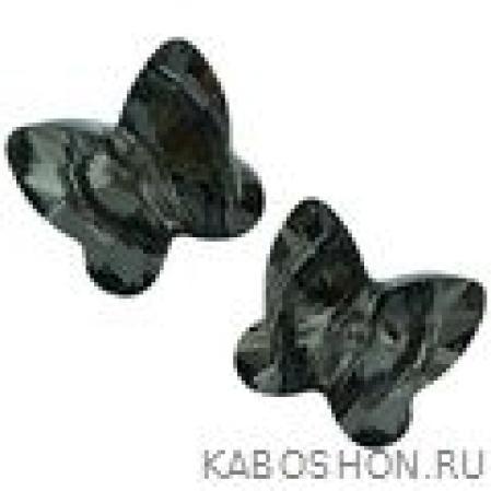 Swarovski Butterfly Bead 10 мм Crystal Silver Night