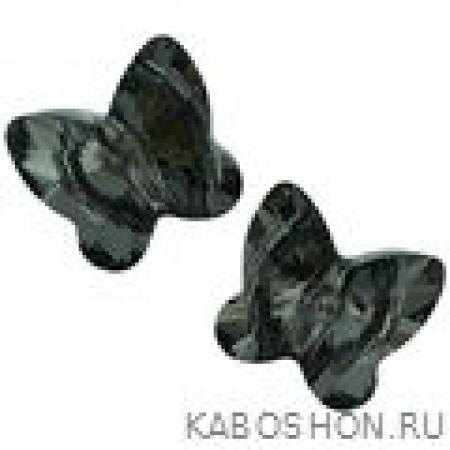 Бусина Swarovski (Сваровски) Butterfly Bead 10 мм Crystal Silver Night