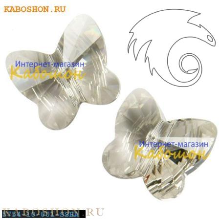 Swarovski Butterfly Bead 10 мм Crystal Silver Shade 5754-10-001-SSHA