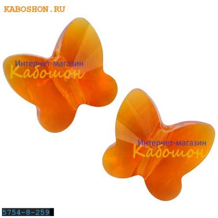 Swarovski Butterfly Bead 10 мм Tangerine 5754-10-259