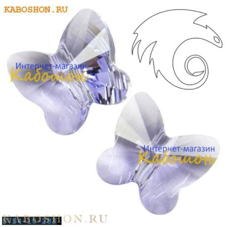 Бусина Swarovski (Сваровски) Butterfly Bead 10 мм Provence Lavender
