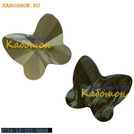 Бусина Swarovski (Сваровски) Butterfly Bead 12 мм Crystal Bronze Shade