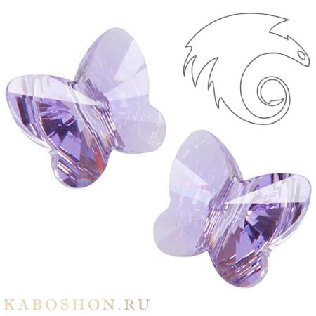 Бусина Swarovski (Сваровски) Butterfly Bead 12 мм Violet