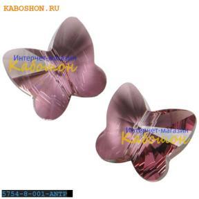 Swarovski Butterfly Bead 8 мм Crystal Antique Pink