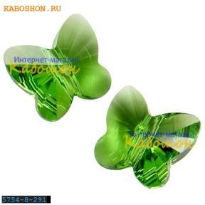 Swarovski Butterfly Bead 8 мм Fern Green