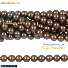 Жемчуг Swarovski 3 мм Crystal Velvet Brown