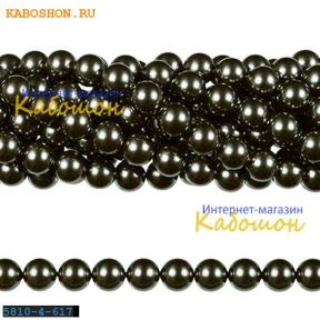 Жемчуг Swarovski 4 мм Crystal Dark Grey