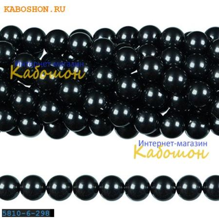 Жемчуг Swarovski 6 мм Crystal Black