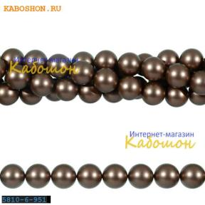 Жемчуг Swarovski 6 мм Crystal Velvet Brown