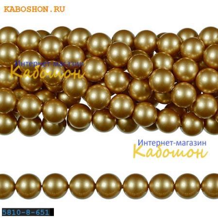 Жемчуг Swarovski 10 мм Crystal Vintage Gold