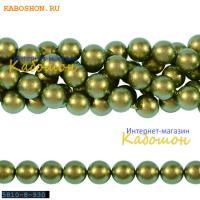 Жемчуг Swarovski 10 мм Crystal Iridescent Green