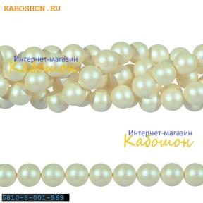 Жемчуг Swarovski 8 мм Crystal Pearlescent White