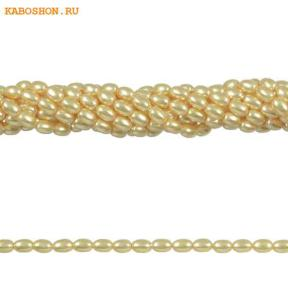 Жемчуг Swarovski рис 4 мм Crystal Gold