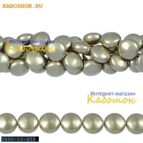 Жемчуг Swarovski 10х6 мм Crystal Platinum