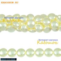 Жемчуг Swarovski 10х6 мм Crystal Cream
