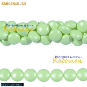 Жемчуг Swarovski 10х6 мм Crystal Pastel Green
