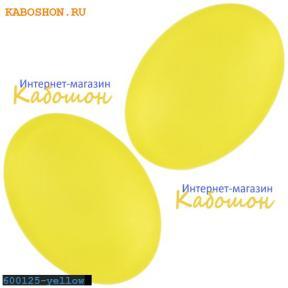Кабошон овальный матовый желтый 25х18 мм
