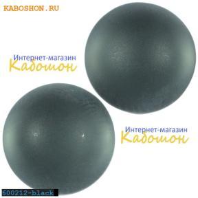 Кабошон круглый матовый черный 12 мм