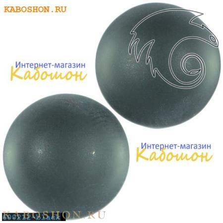 Кабошон круглый матовый черный 20 мм