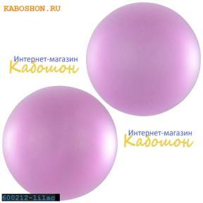 Кабошон круглый матовый лиловый 20 мм