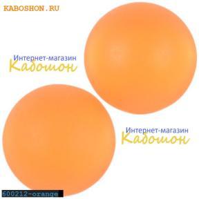 Кабошон круглый матовый оранжевый 20 мм