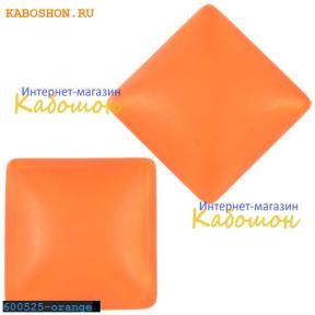 Кабошон квадратный матовый оранжевый 25х7 мм