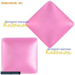 Кабошон квадратный матовый розовый 20х6 мм