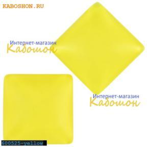 Кабошон квадратный матовый желтый 20х6 мм