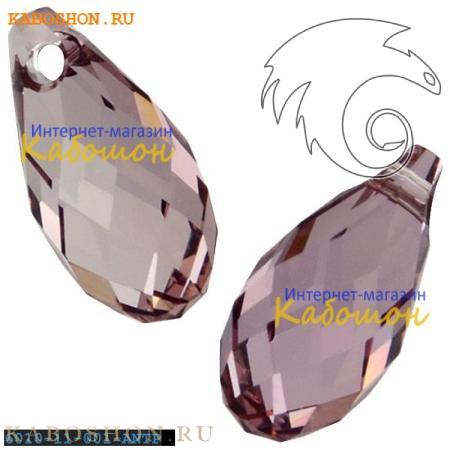 Бусина Swarovski (Сваровски) Briolette 11х5,5 мм Crystal Antique Pink