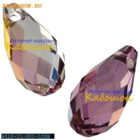 Бусина Swarovski (Сваровски) Briolette 11х5,5 мм Crystal Lilac Shadow