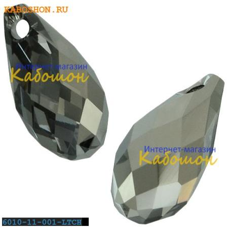 Кристалл Swarovski (Сваровски) Briolette 11х5,5 мм Crystal Light Chrome
