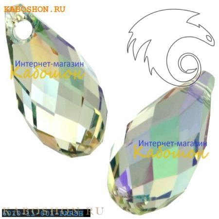 Бусина Swarovski (Сваровски) Briolette 11х5,5 мм Crystal Paradise Shine