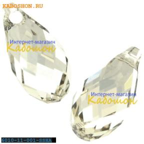 Swarovski Briolette 11х5,5 мм Crystal Silver Shade