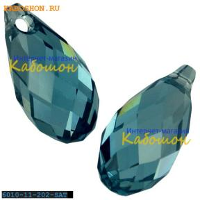 Swarovski Briolette 11х5,5 мм Aquamarine Satin