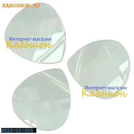 Swarovski Flat Briolette 11х10 мм Crystal