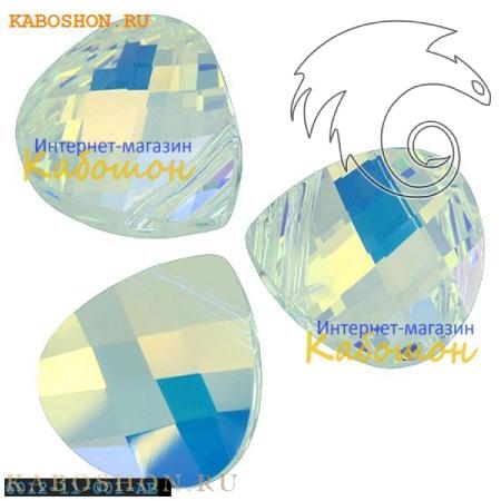 Бусина Swarovski (Сваровски) Flat Briolette 11х10 мм Crystal AB