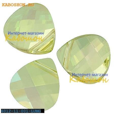 Swarovski Flat Briolette 11х10 мм Crystal Luminous Green 6012-11-001-LUMG
