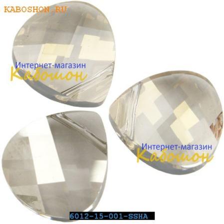 Swarovski Flat Briolette 15,4 мм Crystal Silver Shade