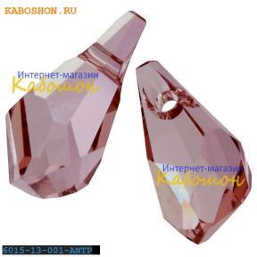 Swarovski Polygon Drop 13 мм Crystal Antique Pink