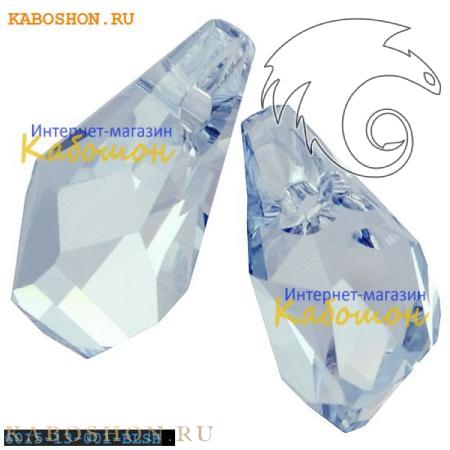 Подвеска-кристалл Swarovski (Сваровски) Polygon Drop 13 мм Crystal Blue Shade