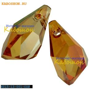 Swarovski Polygon Drop 13 мм Crystal Copper